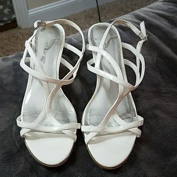 a066a1008ff5 Etienne Aigner Shoes - White strappy low heels